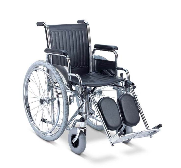 steel wheelchair elevating footrest
