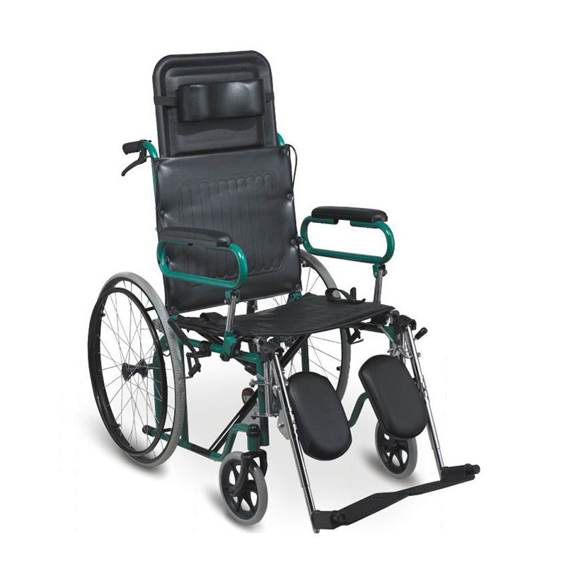 steel wheelchair reclining high back